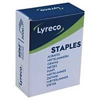 Agrafe Lyreco Bébé 8/4 - 4 mm - dorée - boîte de 5000