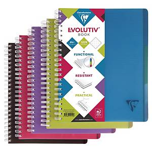 Clairefontaine Linicolor Evolutiv book schrift A4+, geruit 5 x 5 mm, 120 blad