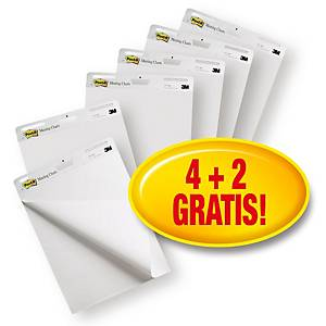 Meeting Charts Post-It Promopack, 4+2 gratis, selbstklebend