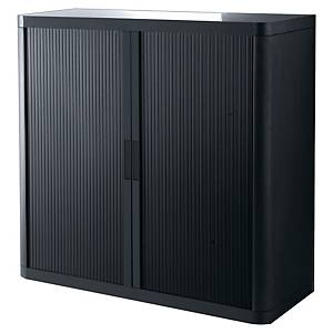 Paperflow EasyOffice Tambour Cupboard 1045 X 1100 X 415mm Black/Black