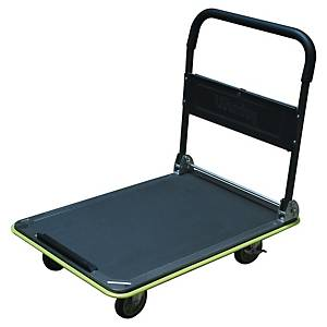 Chariot à plateforme pliable Safetool Wonday, charge maximale 300 kg, gris-vert