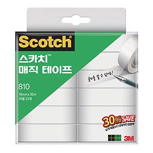PK12 3M 810 SCOTCH MAGIC TAPE 18X38MM