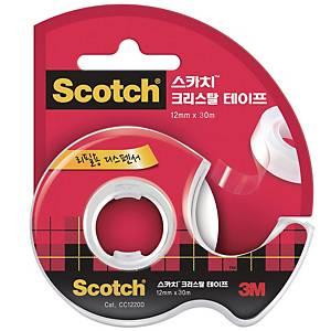 3M 스카치 600 크리스탈 테이프 디스펜서 12mm X 30m