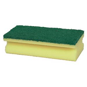 Håndskuresvamp Taski, gul-grøn, pakke a 10 stk.