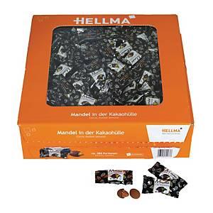 Chokolademandler Hellma, pakke a 380 stk.
