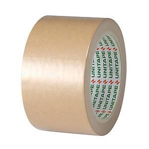 UNITAPE เทปกระดาษคราฟท์กาวในตัว 2.5 นิ้ว x 25 หลา แกน 3 นิ้ว น้ำตาล
