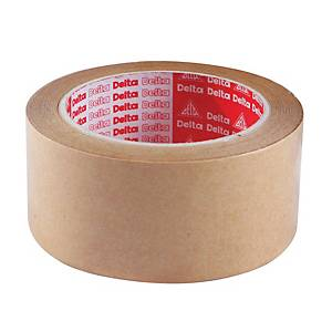 DELTA ADHESIVE TAPE KRAFT PAPER SIZE 1.5 INCH X 30 YARDS CORE 3INCH BROWN
