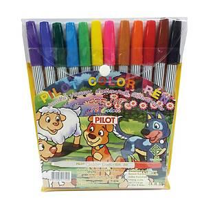 PILOT ปากกาหัวสักหลาดSDR-200 ด้ามปลอก 1.0มม. คละสี แพ็ค 12