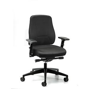 Prosedia Younico Pro 2406 bureaustoel met lage rugleuning, stof, zwart