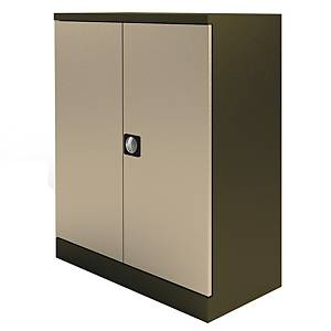 Kontrax Stationery Cupboard 1M Coffee / Cream
