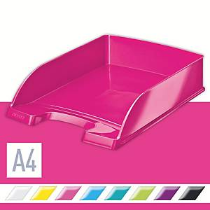Leitz Wow 5226 A4 Letter Tray Pink