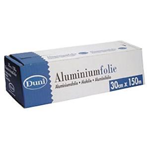 Duni aluminiumfolie met dispenser, 30 cm x 150 m, per stuk
