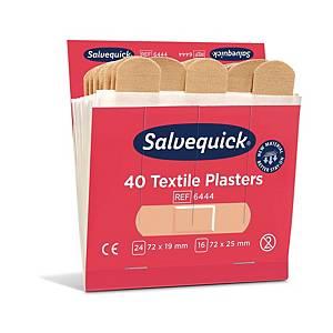 Salvequick 6444 kangaslaastari täyttöpakkaus, 1 kpl=6x40 laastaria