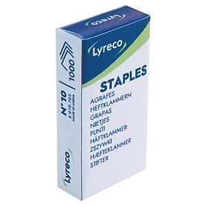 Agrafe Lyreco n°10 - 4 mm - boîte de 1000