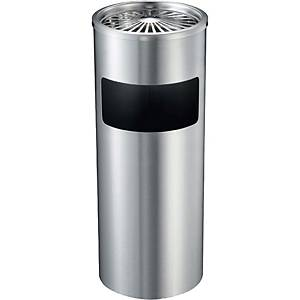 Ashtray And Waste Bin Stainless Silver