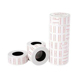 NANMEE NM-500 PRICING LABELS - 500 LABELS/ROLL - PACK OF 10 ROLLS