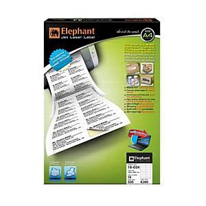 ตราช้าง สติกเกอร์เจ็ทเลเซอร์ 16-034 105x36มม. 16ดวง/แผ่น 500 แผ่น