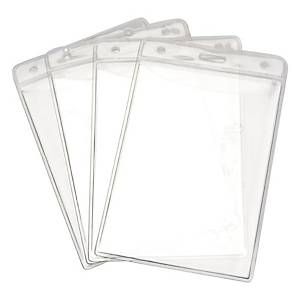 BADGE PORTRAIT EXHIBITION STYLE 106MM X 163MM CLEAR - PACK OF 5