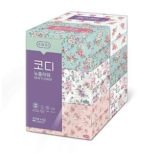 PK6 CODI NEW FLOWER TISSUE 250 SHEET