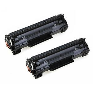 Cartouches toner duopack HP 35AD (CB435AD), noires, le paquet de 2 x CB435A