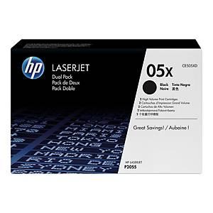 Toner HP 05X CE505XD czarny, dwupak