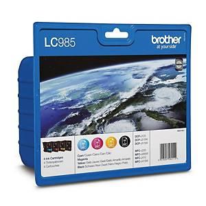 Brother LC-985VALBP Inkjet Cartridge B/C/M/Y