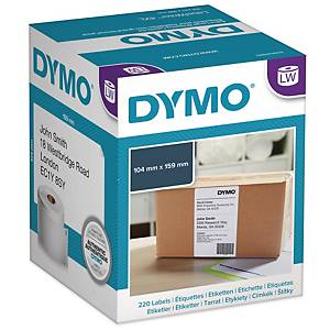 Adresseetiketter Dymo LabelWriter, 104 x 159 mm, rulle a 220 etiketter