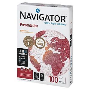 Caja de 5 paquetes 500 hojas de papel Navigator Presentation - A4 - 100 g/m2