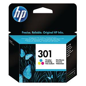 HP 301 Tri-Colour Original Ink Cartridge (CH562EE)