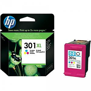 HP 301XL (CH564EE) inkt cartridge, cyaan, magenta, geel