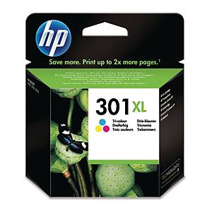 HP 301XL High Yield Tri-Colour Original Ink Cartridge (Ch564EE)