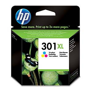 Cartucho de tinta HP 301XL - CH564EE - tricolor