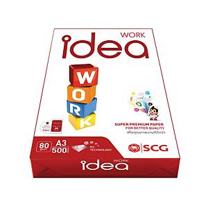 IDEA WORK White A3 Copy Paper 80G Ream Of 500