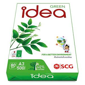 IDEA GREEN White A3 Copy Paper 80G Ream Of 500 Sheets