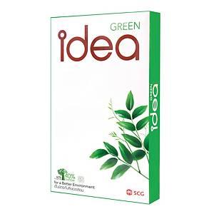 IDEA GREEN กระดาษถ่ายเอกสาร F14 80 แกรม สีขาว 1 รีม 500แผ่น
