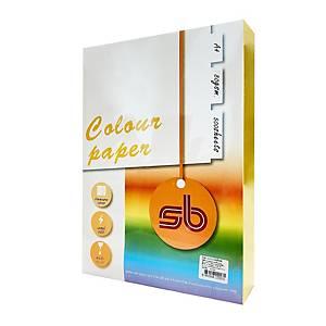 SB กระดาษสีถ่ายเอกสาร NO.A3 A 4 80 แกรม เหลืองเข้ม 1 รีม บรรจุ 500 แผ่น