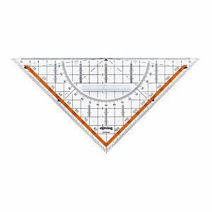 Équerre géométrique Rotring Centro, 23 cm, avec poignée, transp.