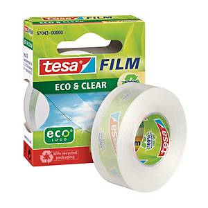 Klebefilm Tesa 57043 Eco & Clear, ökologisch, 19 mm x 33 m, transparent
