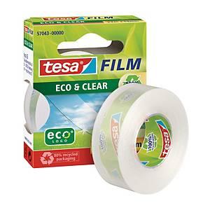 TESA 57043 ECO&CLEAR ADHES TAPE 19X33M
