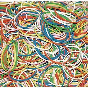 Gumki recepturki DONAU 7787001PL-99, miks kolorów, 100 g