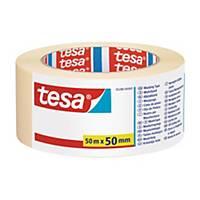 Krepová maskovací lepicí páska tesa®, 50 mm x 50 m
