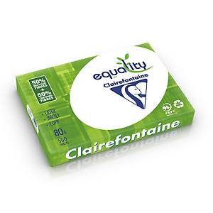 Papier A3 blanc recyclé Clairefontaine Equality, 80 g, les 5 x 500 feuilles