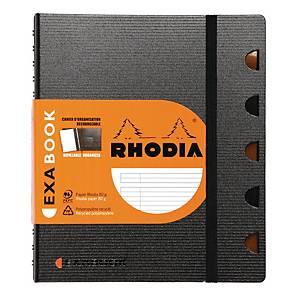 Notesbog Rhodia Exabook, A5, linjeret, 80 ark, 80 g, med 5 faner