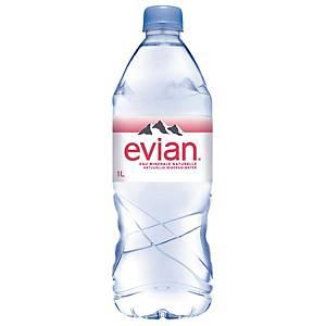 Evian mineraalwater, pak van 6 flessen van 1 l