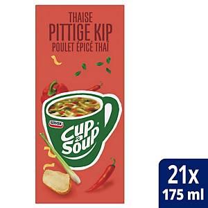 Soupe de poulet thaï Cup-a-Soup, la boîte de 21 sachets