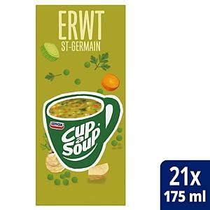 Soupe aux pois Cup-a-Soup, la boîte de 21 sachets