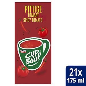 Cup-a-Soup spicy tomatensoep, doos van 21 zakjes