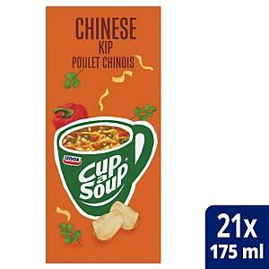 Potage de poulet à la chinoise Cup-a-Soup, la boîte de 21 sachets