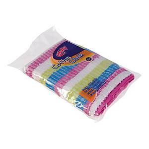 Multi chiffon pour lave-vaisselle de coton 35x35cm - paquet de 2