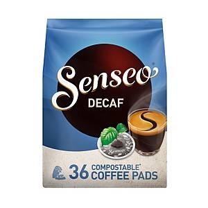 Senseo dosettes café décaféine 7g - paquet de 36